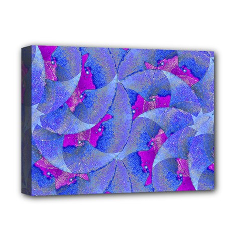 Abstract Deco Digital Art Pattern Deluxe Canvas 16  X 12  (framed)