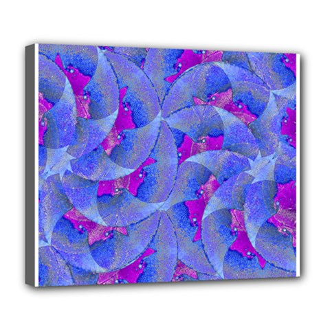 Abstract Deco Digital Art Pattern Deluxe Canvas 24  x 20  (Framed)