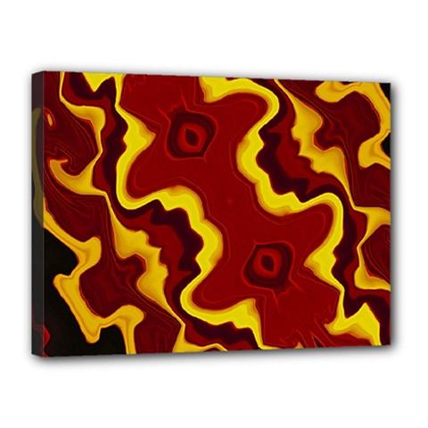 Tribal Summer Nightsdreams Pattern Canvas 16  X 12  (framed)