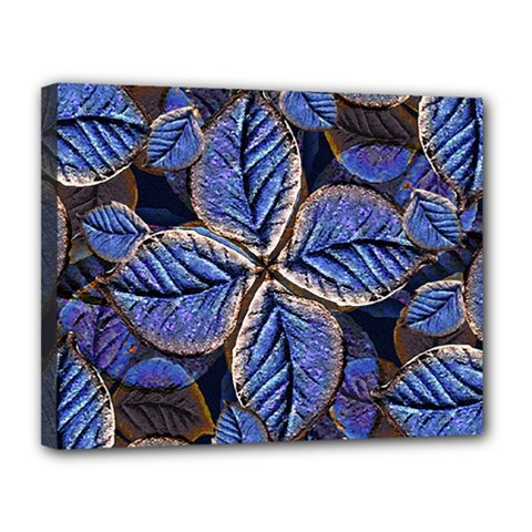 Fantasy Nature Pattern Print Canvas 14  X 11  (framed)