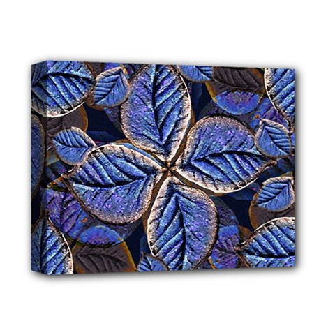Fantasy Nature Pattern Print Deluxe Canvas 14  X 11  (framed)