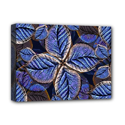 Fantasy Nature Pattern Print Deluxe Canvas 16  X 12  (framed)