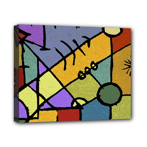 Multicolored Tribal Pattern Print Canvas 10  x 8  (Framed)