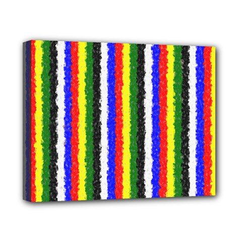 Basic Colors Curly Stripes Canvas 10  X 8  (framed)