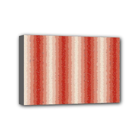 Red Curly Stripes Mini Canvas 6  X 4  (framed)