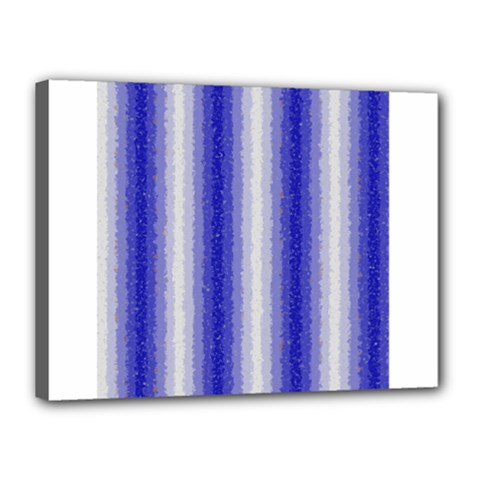 Dark Blue Curly Stripes Canvas 16  x 12  (Framed)