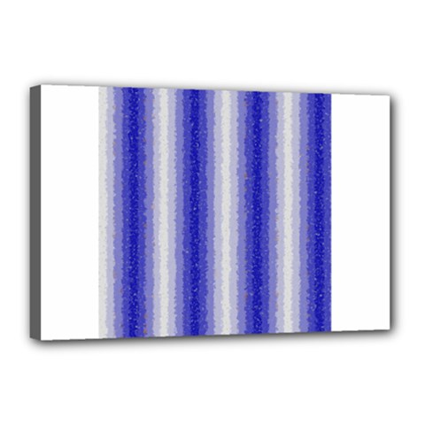 Dark Blue Curly Stripes Canvas 18  X 12  (framed)
