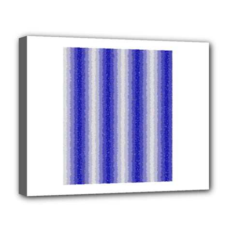 Dark Blue Curly Stripes Deluxe Canvas 20  X 16  (framed)