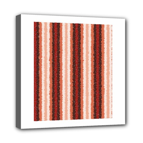 Native American Curly Stripes   1 Mini Canvas 8  X 8  (framed)