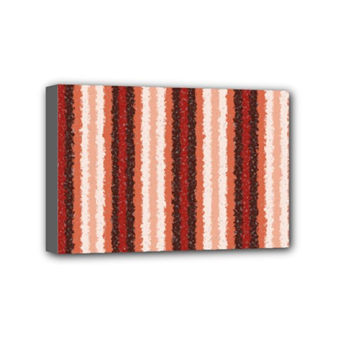 Native American Curly Stripes   1 Mini Canvas 6  X 4  (framed)
