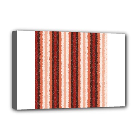 Native American Curly Stripes   1 Deluxe Canvas 18  X 12  (framed)