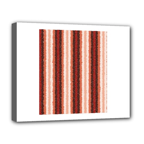 Native American Curly Stripes - 1 Deluxe Canvas 20  x 16  (Framed)