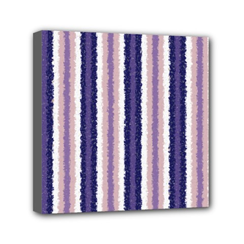 Native American Curly Stripes - 2 Mini Canvas 6  x 6  (Framed)