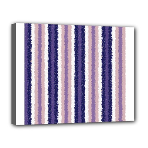 Native American Curly Stripes - 2 Canvas 14  x 11  (Framed)