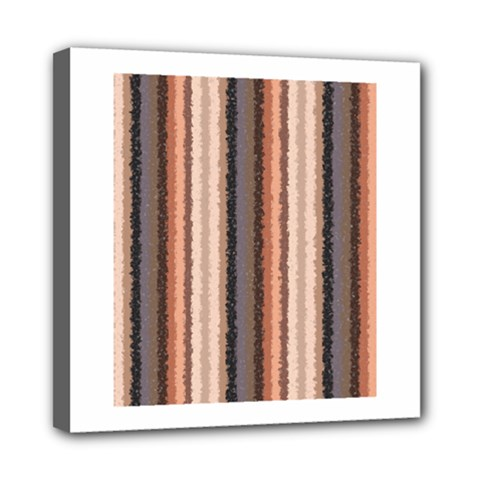 Native American Curly Stripes   4 Mini Canvas 8  X 8  (framed)