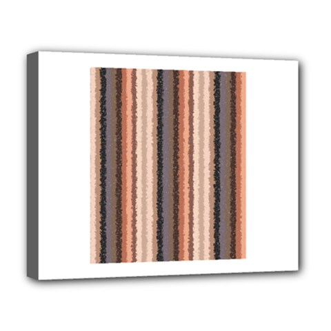 Native American Curly Stripes - 4 Deluxe Canvas 20  x 16  (Framed)