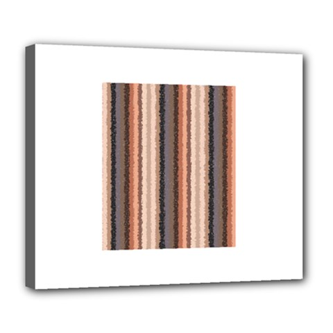 Native American Curly Stripes - 4 Deluxe Canvas 24  x 20  (Framed)