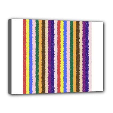 Vivid Colors Curly Stripes - 1 Canvas 16  x 12  (Framed)