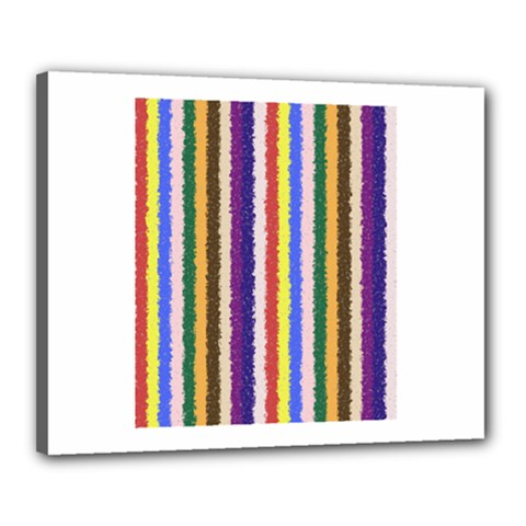 Vivid Colors Curly Stripes - 1 Canvas 20  x 16  (Framed)
