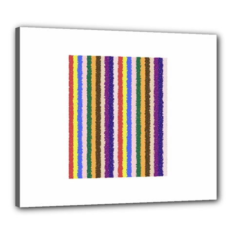Vivid Colors Curly Stripes - 1 Canvas 24  x 20  (Framed)