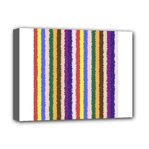 Vivid Colors Curly Stripes - 1 Deluxe Canvas 16  x 12  (Framed)