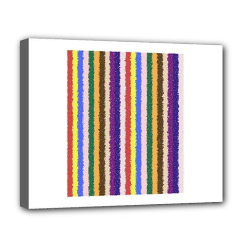 Vivid Colors Curly Stripes - 1 Deluxe Canvas 20  x 16  (Framed)