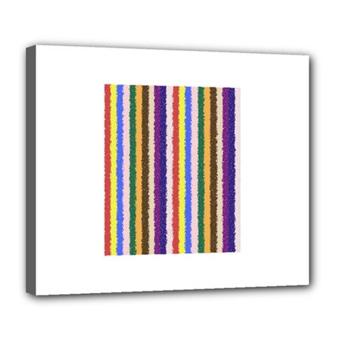 Vivid Colors Curly Stripes - 1 Deluxe Canvas 24  x 20  (Framed)