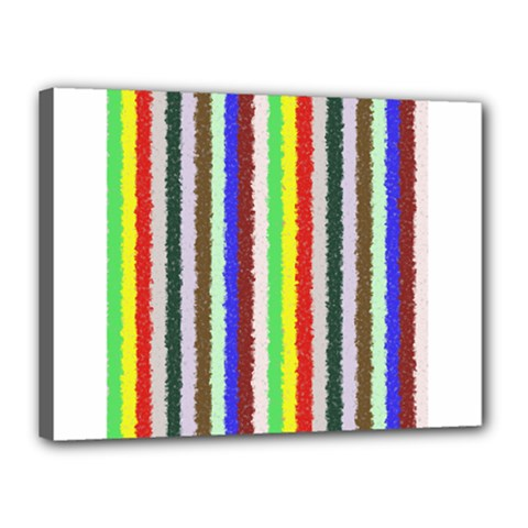 Vivid Colors Curly Stripes - 2 Canvas 16  x 12  (Framed)