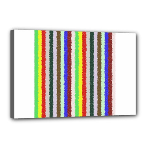 Vivid Colors Curly Stripes   2 Canvas 18  X 12  (framed)