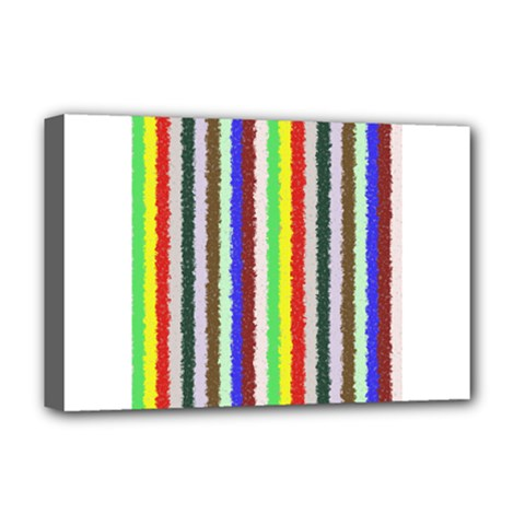 Vivid Colors Curly Stripes   2 Deluxe Canvas 18  X 12  (framed)