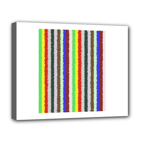 Vivid Colors Curly Stripes - 2 Deluxe Canvas 20  x 16  (Framed)