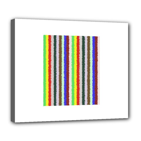 Vivid Colors Curly Stripes - 2 Deluxe Canvas 24  x 20  (Framed)