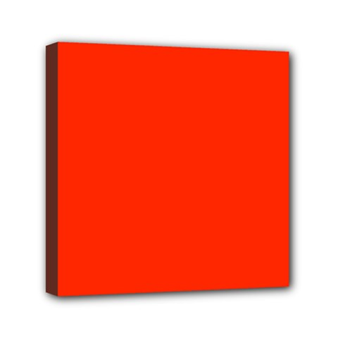 Bright Red Mini Canvas 6  x 6  (Framed)