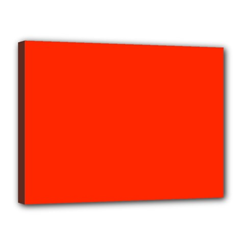 Bright Red Canvas 16  X 12  (framed)