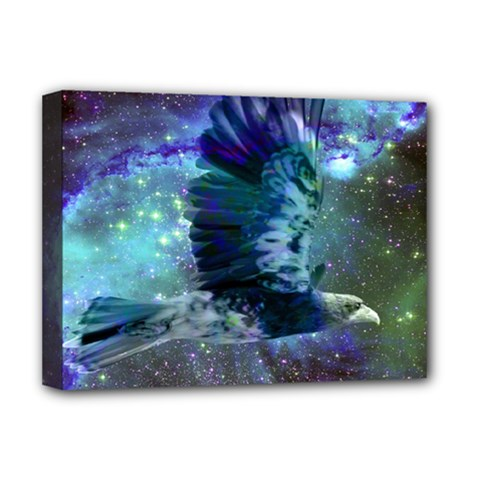 Catch A Falling Star Deluxe Canvas 16  x 12  (Framed)