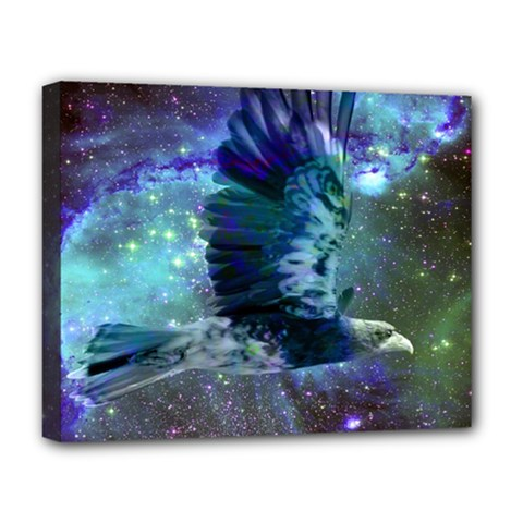 Catch A Falling Star Deluxe Canvas 20  x 16  (Framed)