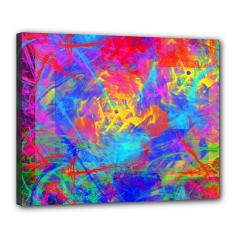 Colour Chaos  Canvas 20  x 16  (Framed)