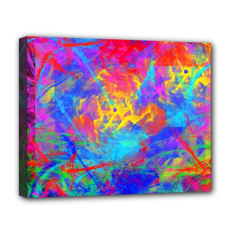 Colour Chaos  Deluxe Canvas 20  X 16  (framed)