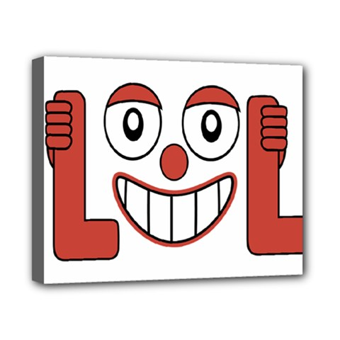Laughing Out Loud Illustration002 Canvas 10  x 8  (Framed)