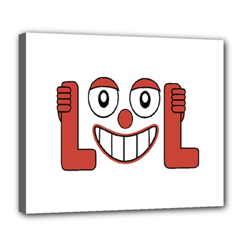 Laughing Out Loud Illustration002 Deluxe Canvas 24  x 20  (Framed)