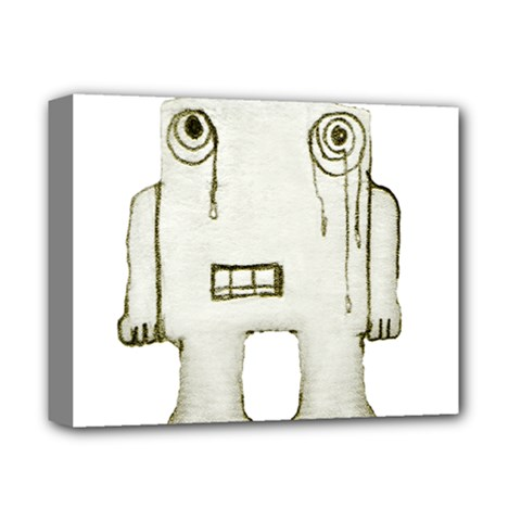 Sad Monster Baby Deluxe Canvas 14  x 11  (Framed)