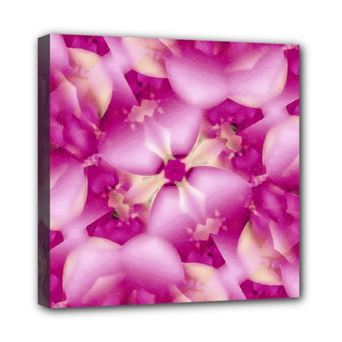 Beauty Pink Abstract Design Mini Canvas 8  x 8  (Framed)