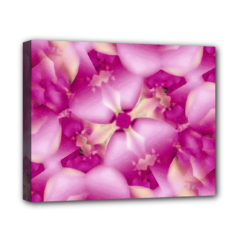Beauty Pink Abstract Design Canvas 10  X 8  (framed)