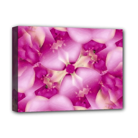Beauty Pink Abstract Design Deluxe Canvas 16  x 12  (Framed)