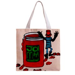 Jammy Dodger Full All Over Print Grocery Tote Bag