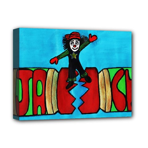 CRACKER JACK Deluxe Canvas 16  x 12  (Framed)