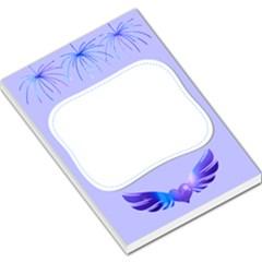 wings by saprillika Large Memo Pad