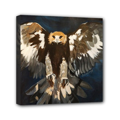 Golden Eagle Mini Canvas 6  X 6  (framed)