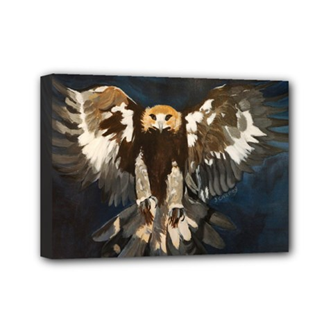 Golden Eagle Mini Canvas 7  X 5  (framed)