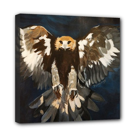 GOLDEN EAGLE Mini Canvas 8  x 8  (Framed)